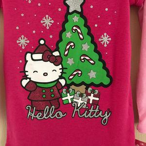 Hello Kitty Christmas Tree.Hello Kitty Christmas Tree Holiday Top Girl Pink Nwt
